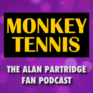 monkey tennis podcast art