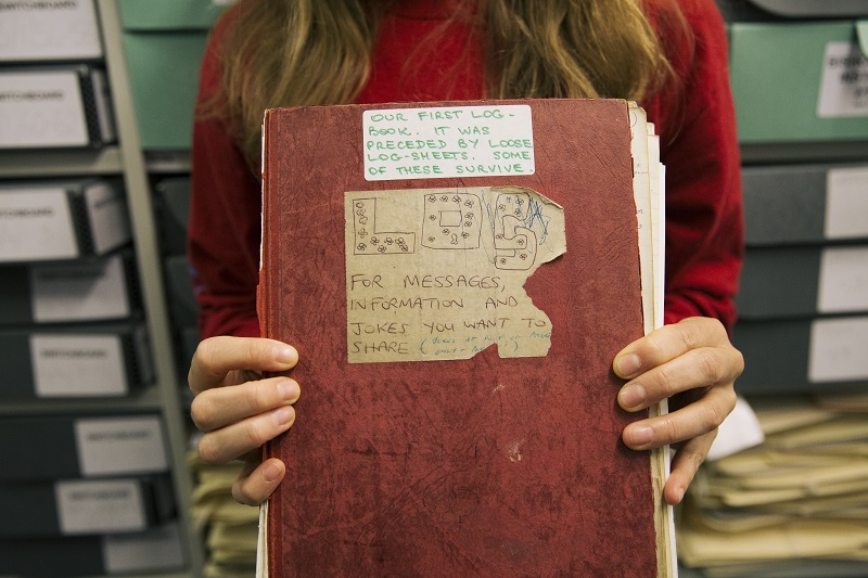 Switchboard log book - photo by Imogen Forte