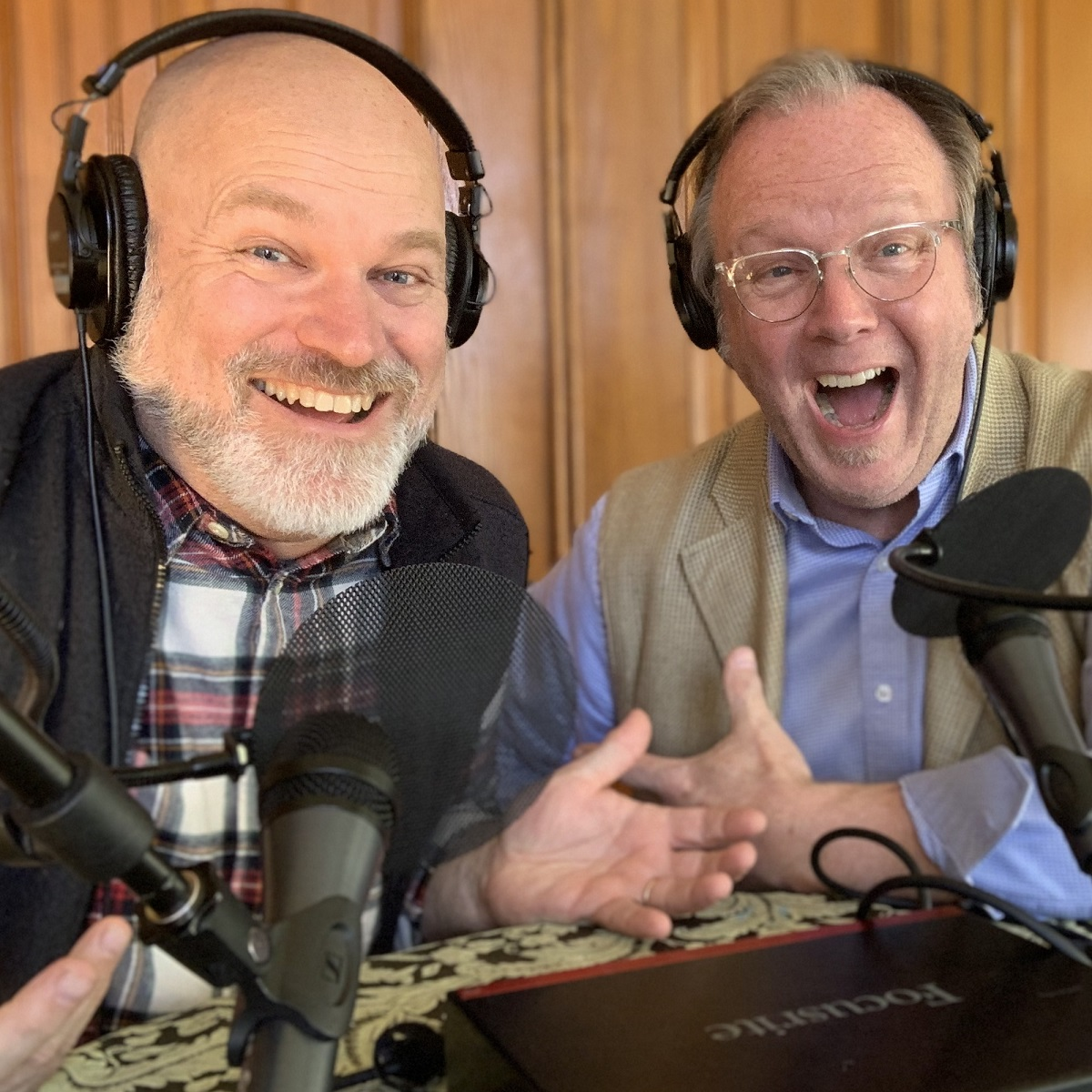 Tim and Kurt Smiling Behavioral Grooves Podcast Recording